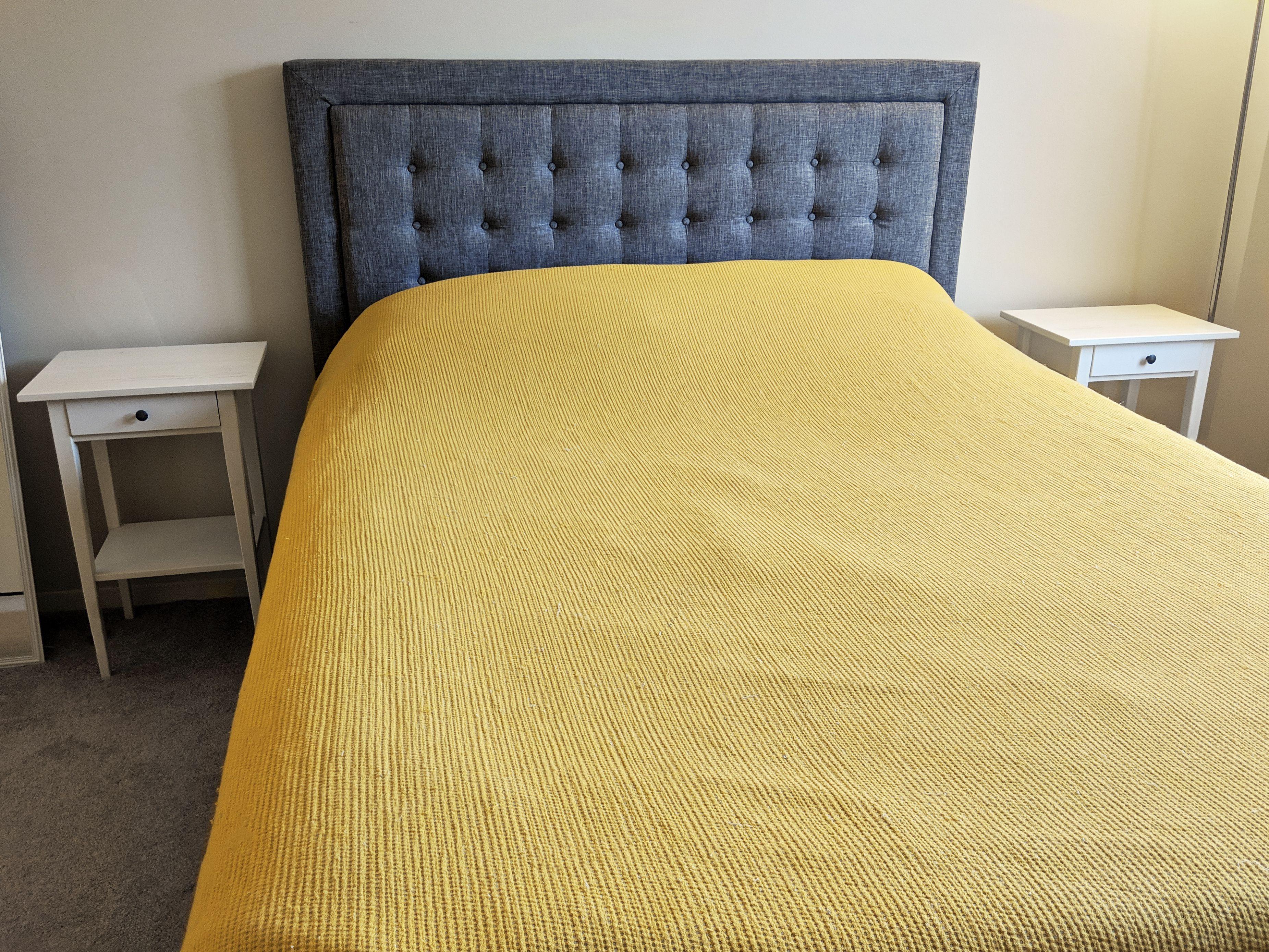 4d63b575725ec Three Posts Woodside Upholstered Panel Bed