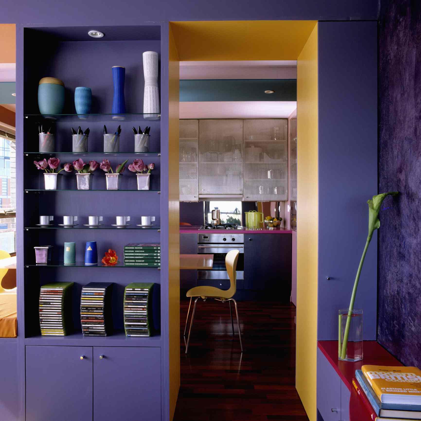 Yellow and purple room