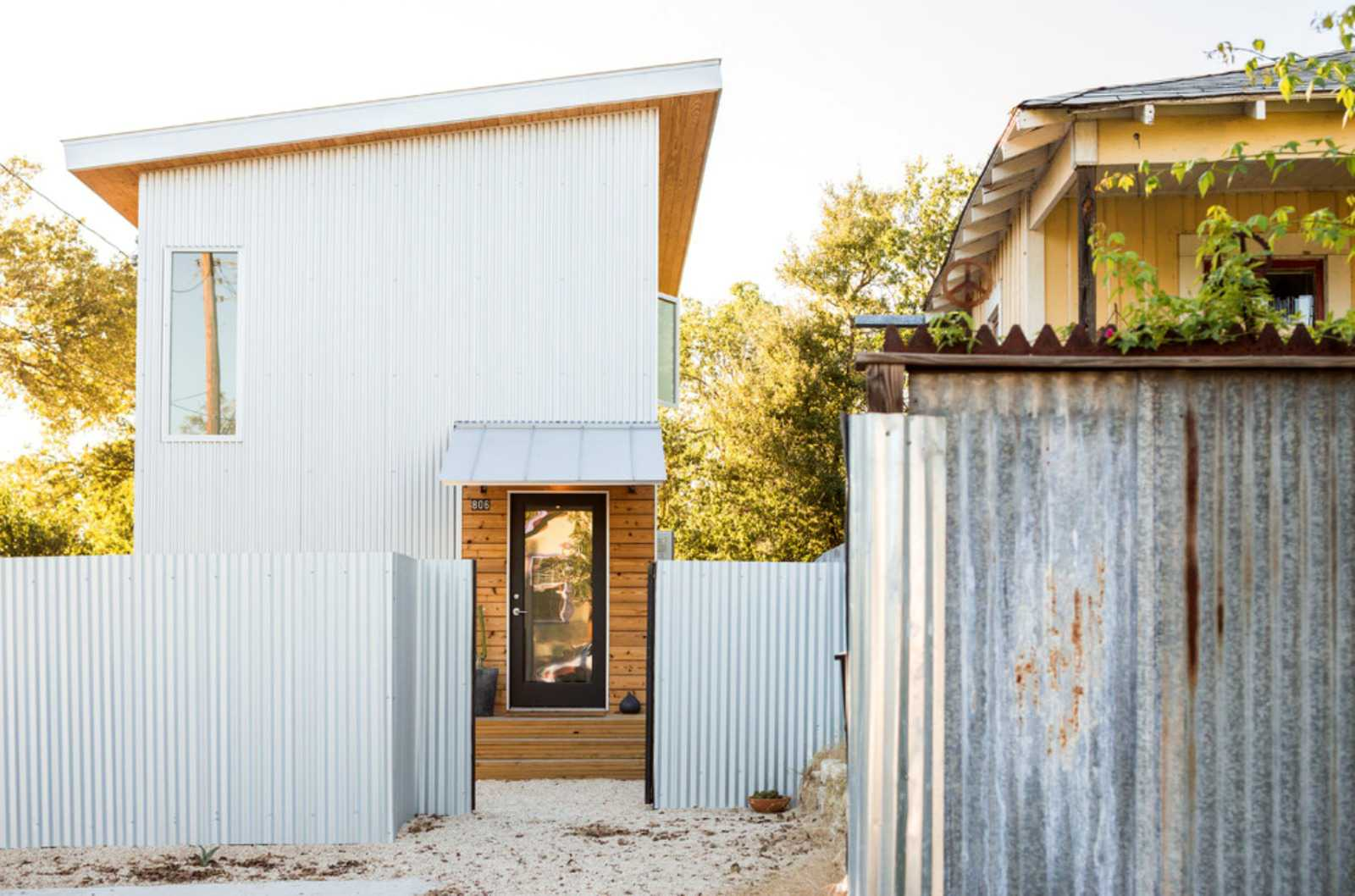 White modern shed