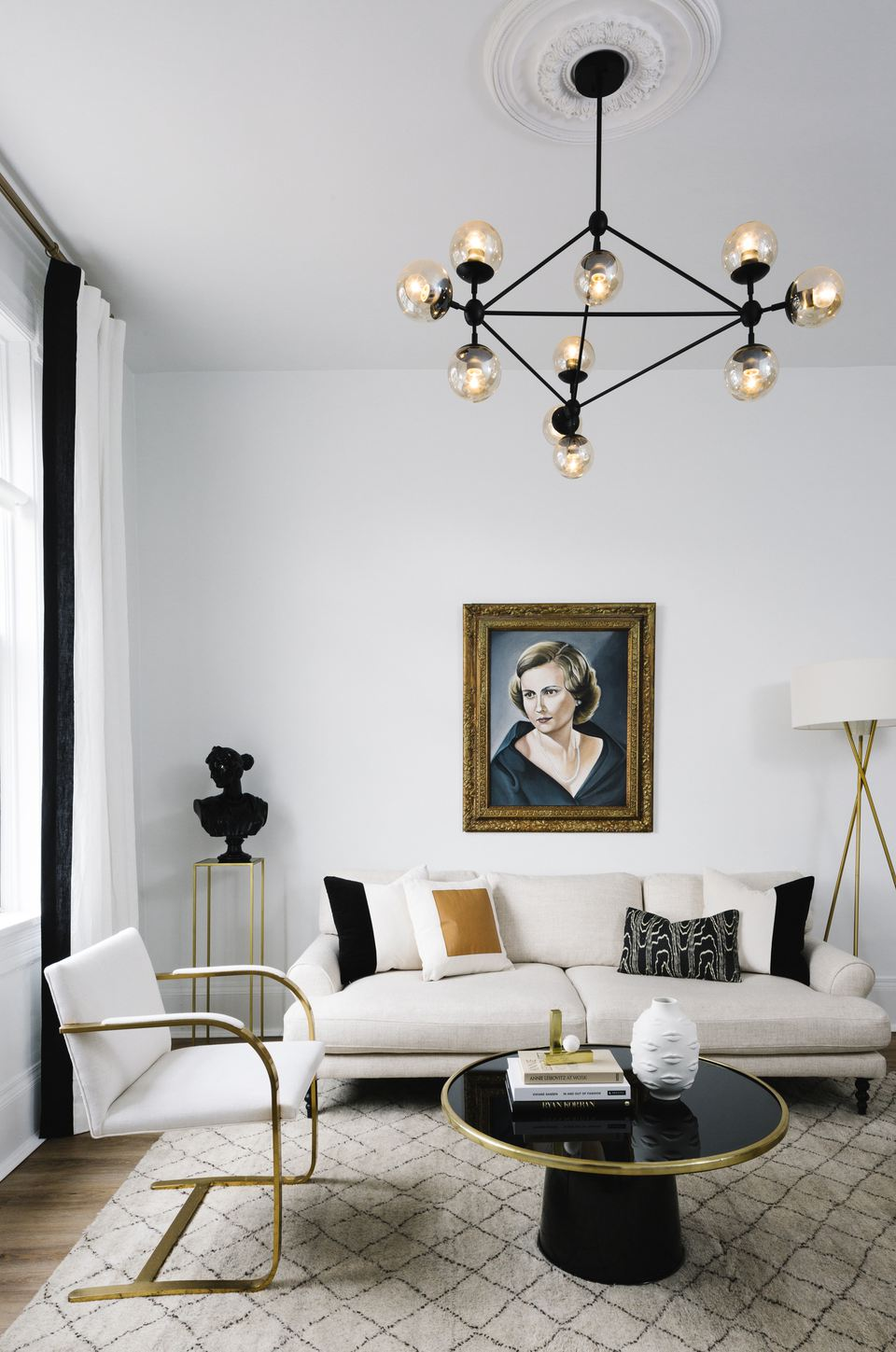 Home Makeover An Interior Designers Glam Black White