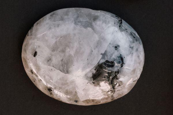 closeup of moonstone