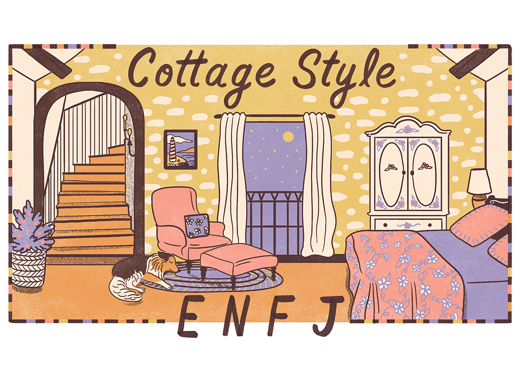 An illustration of the ideal home for an ENFJ