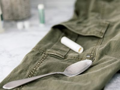 melted chapstick on pants