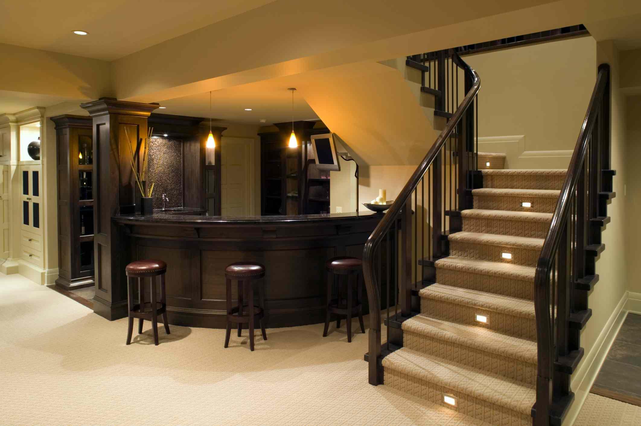 Home Bar in Basement