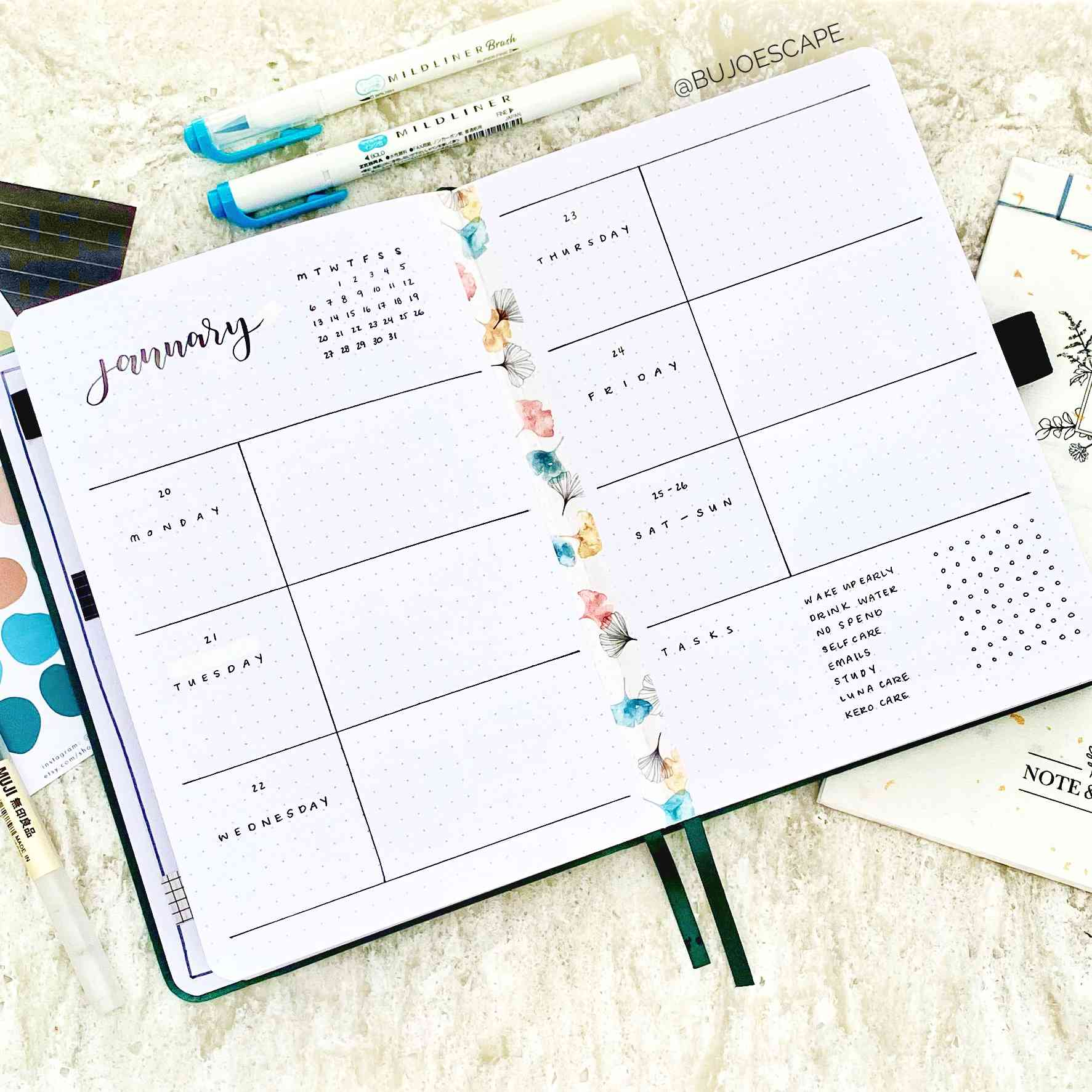 beginner bullet journal layout