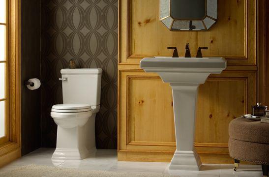 Lavabo con pedestal para baño