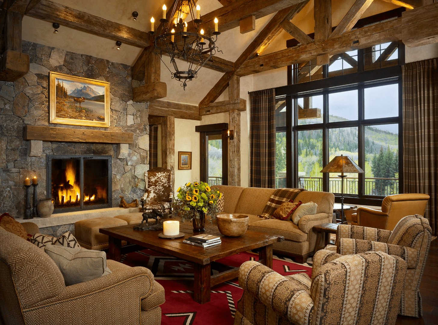 21 cozy living room design ideas - Living Room With Fireplace