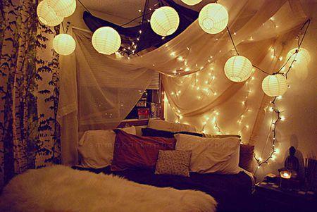 Hang Up Some String Lights In Bedroom
