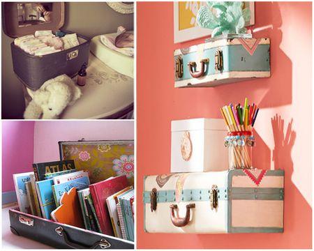 Vintage Suitcases Repurposed As Nursery Decor
