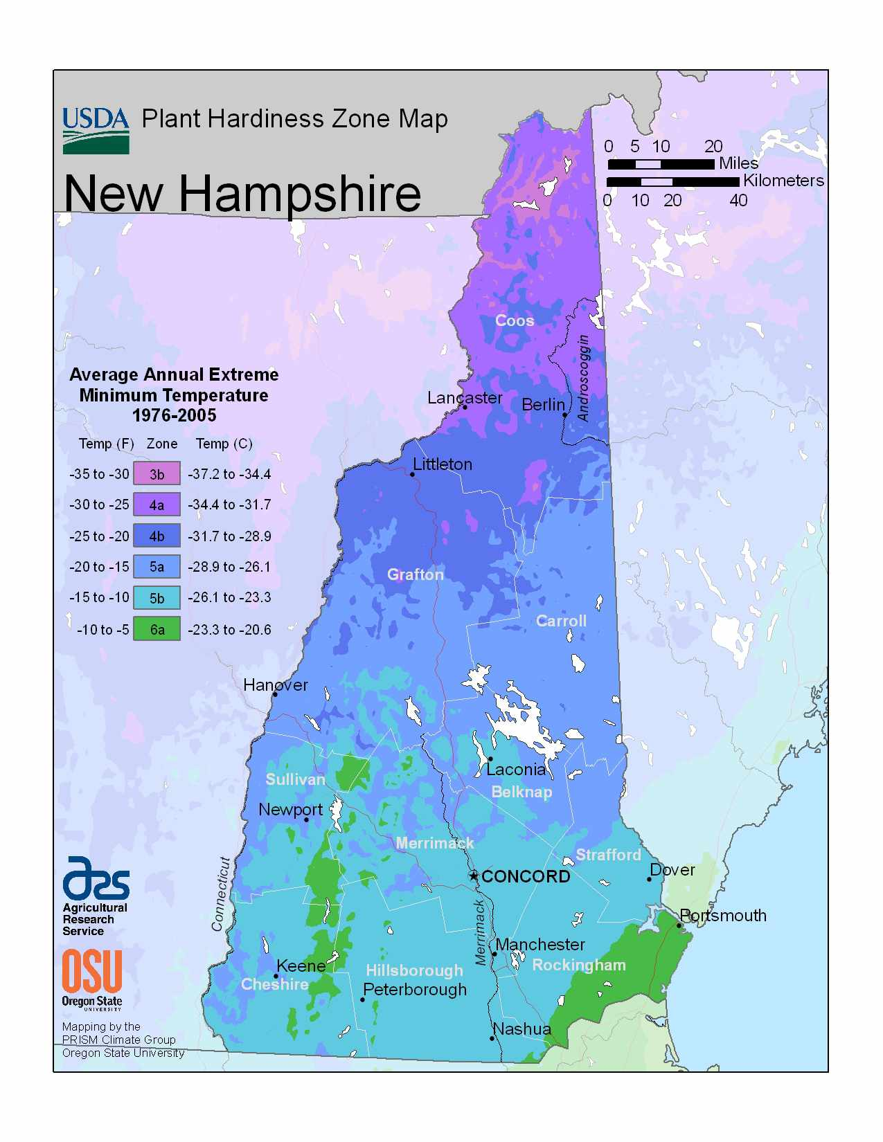 Photo of New Hampshire Hardiness Zones