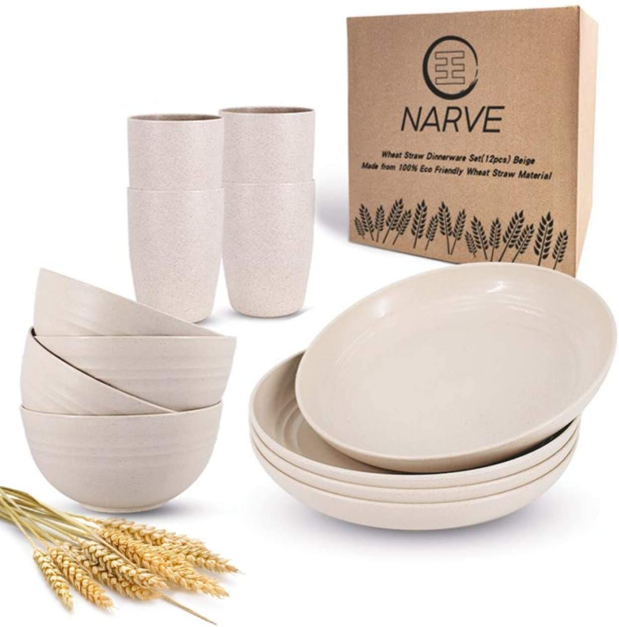 Narve Wheat Straw Dinnerware Set