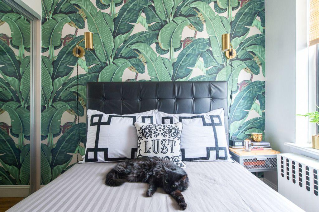 palm leaf wallpaper nyc