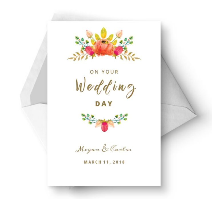 Free, Printable Wedding Cards That Say Congrats