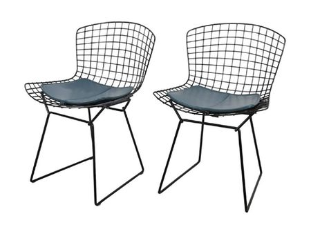 Pair Of Harry Bertoia Side Chairs For Knoll Fs20 1stdibs Mid Century Modern Enthusiasts Decorate Outdoor