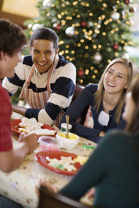 get your teen involved in decorating christmas cookies