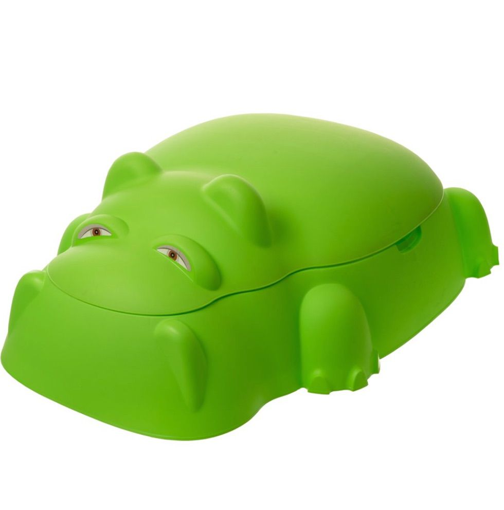 Starplay Hippo Pool/Sandpit w/Cover, Green