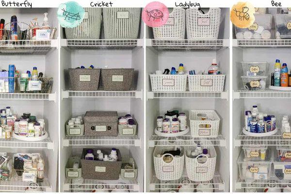 Bathroom organization systems by Clutterbug type