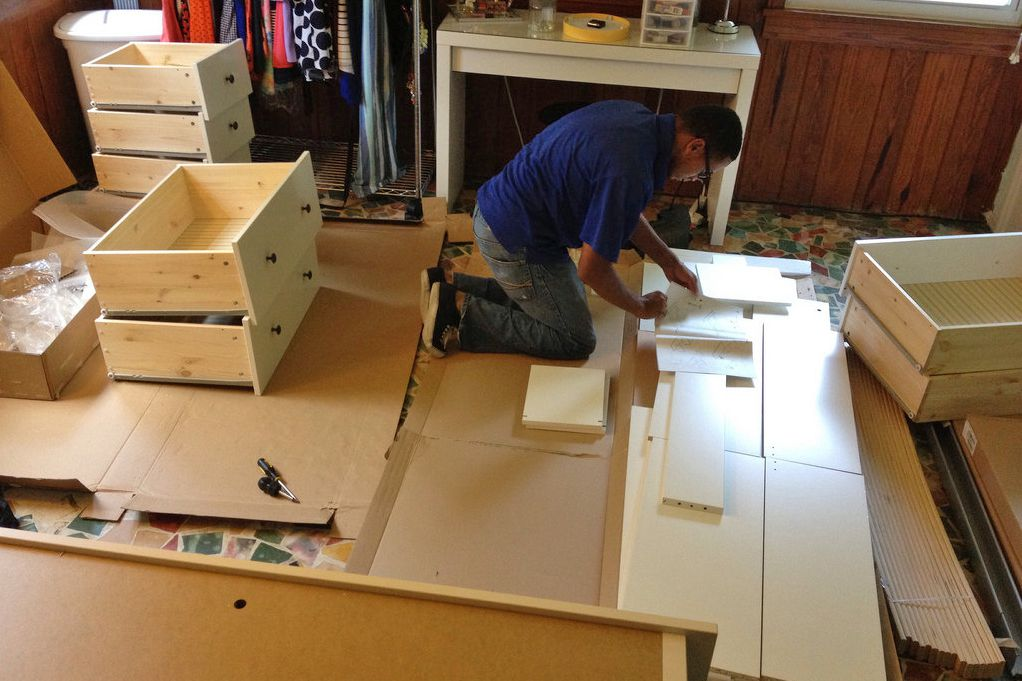 how to assemble flat packed furniture