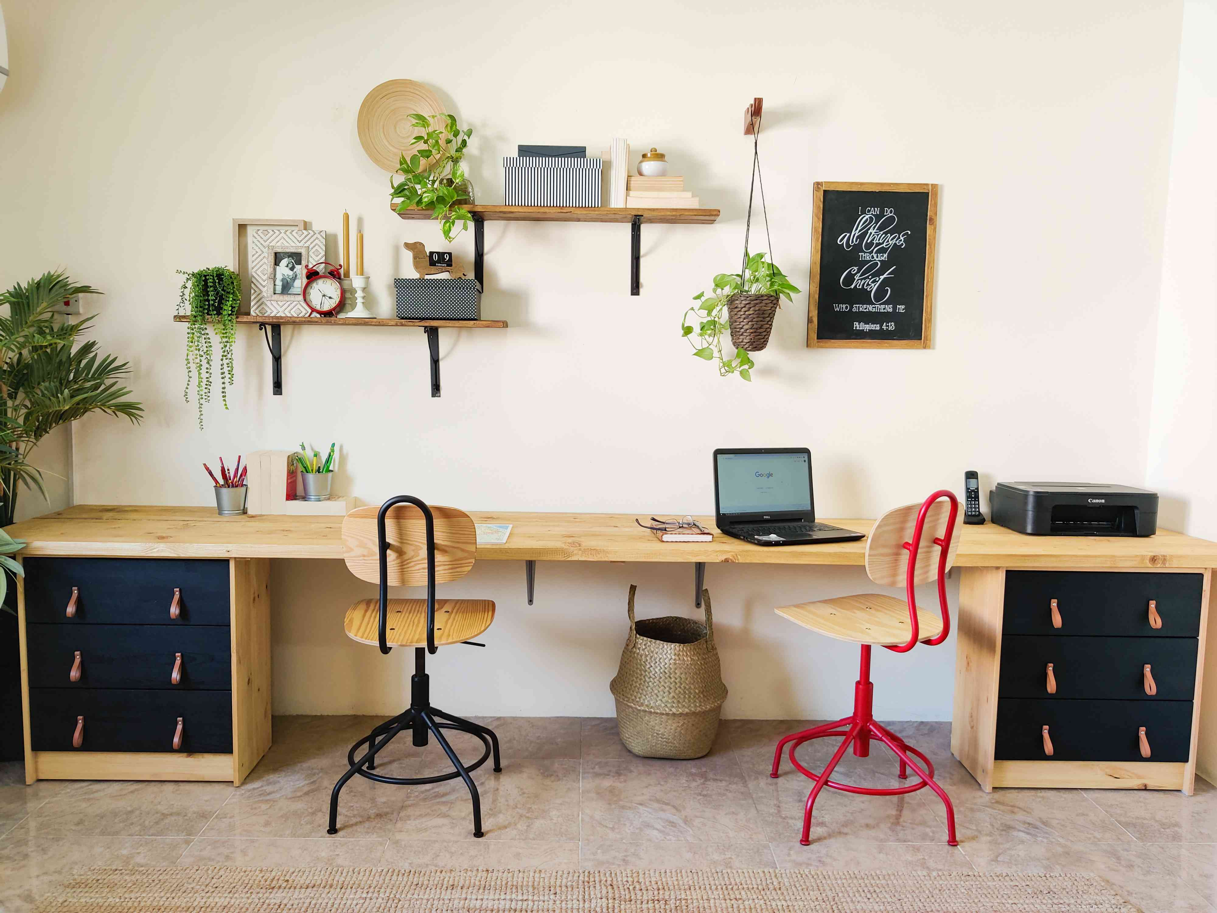 IKEA hack double desk