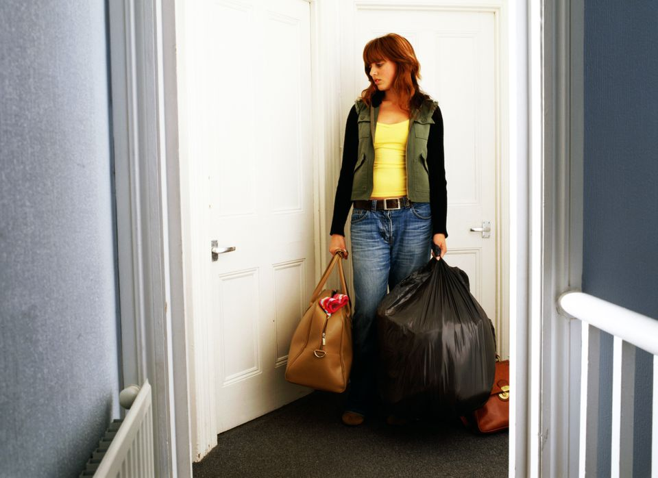 Moving with garbage bags