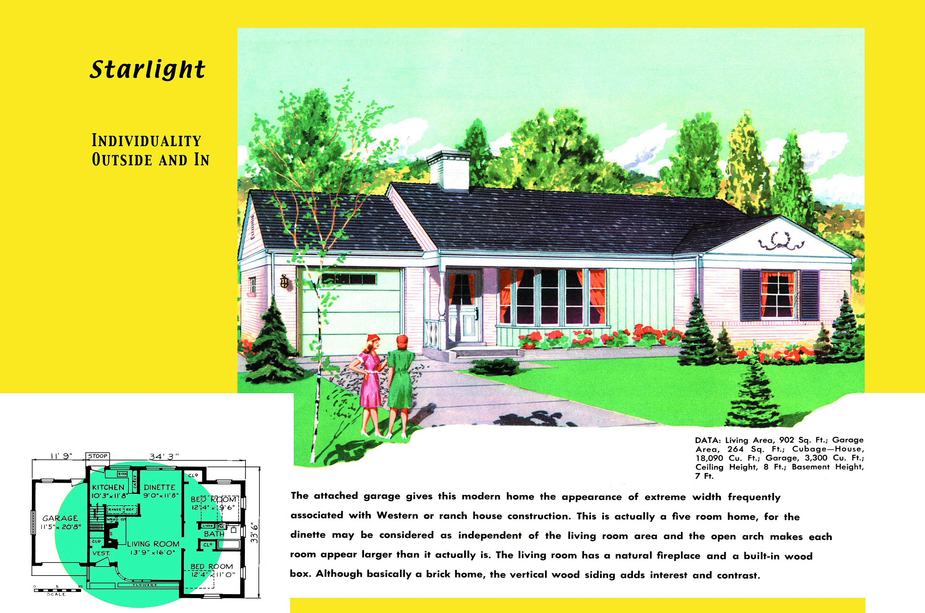 1950s House Plans for Popular Ranch Homes