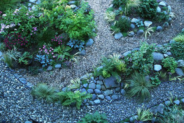 Rock garden in landscaping