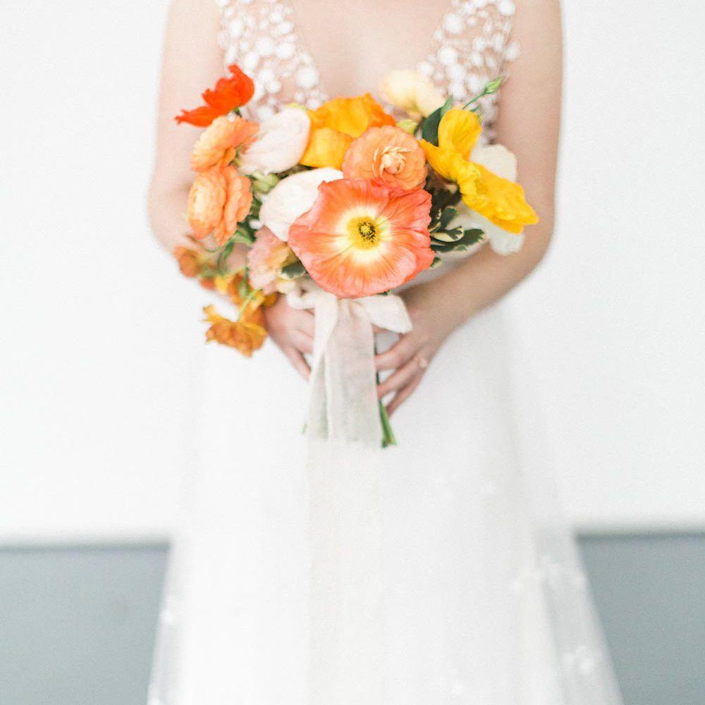 Poppy Summer Wedding Bouquet