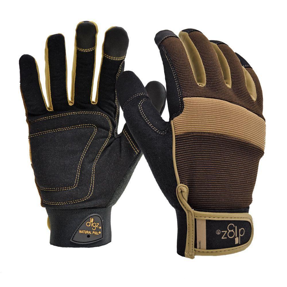 Men's Large Gardening Fabric Gloves