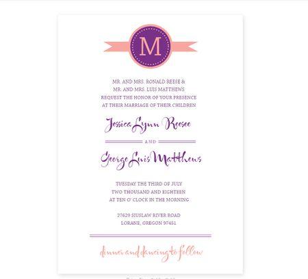 a purple and orange wedding program template - Free Wedding Program Templates