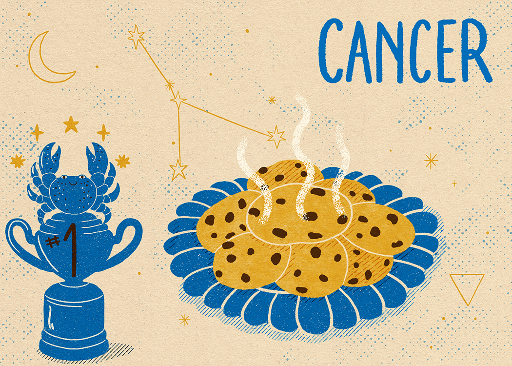 cancer zodiac illustration politeness