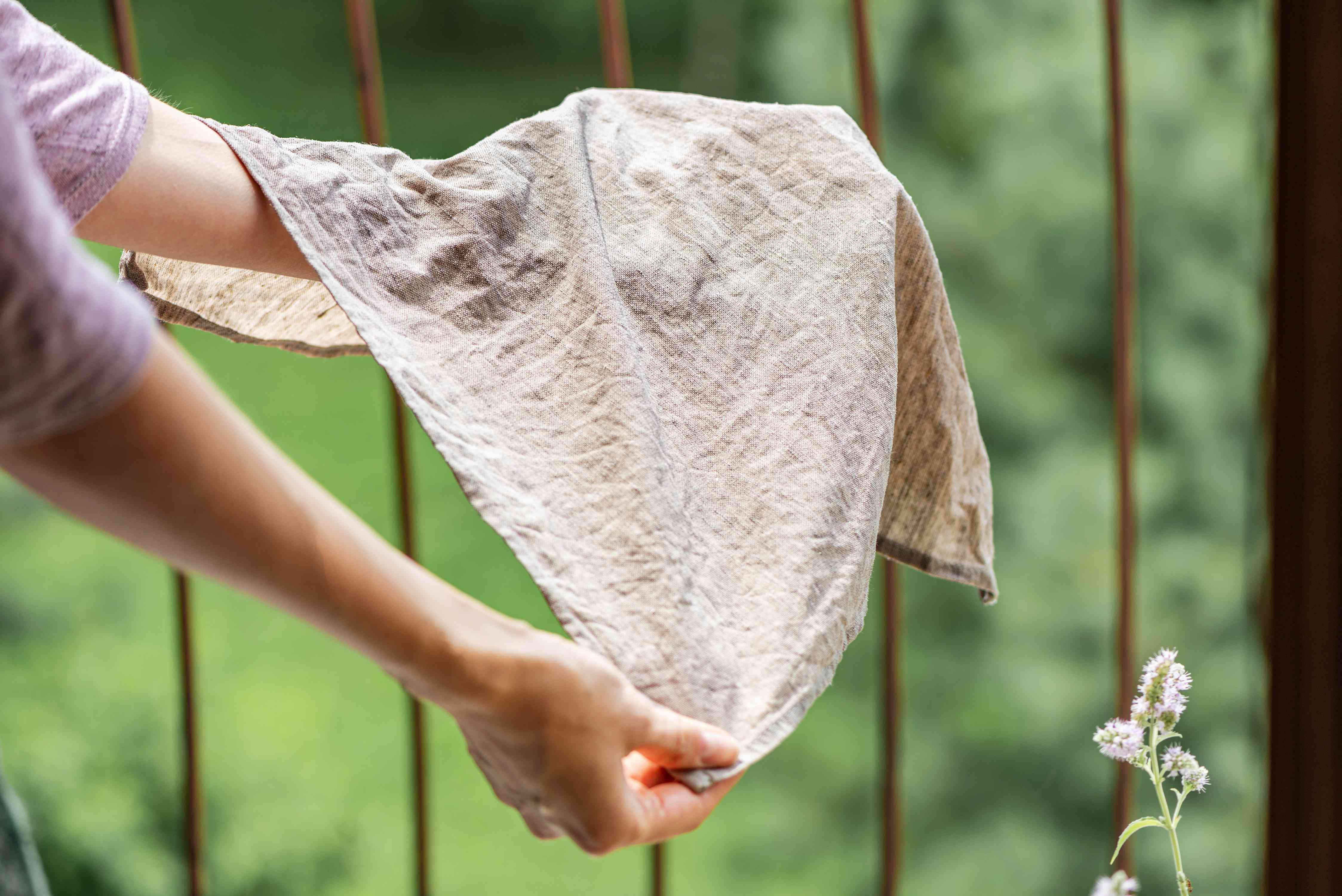 Check linen for stain