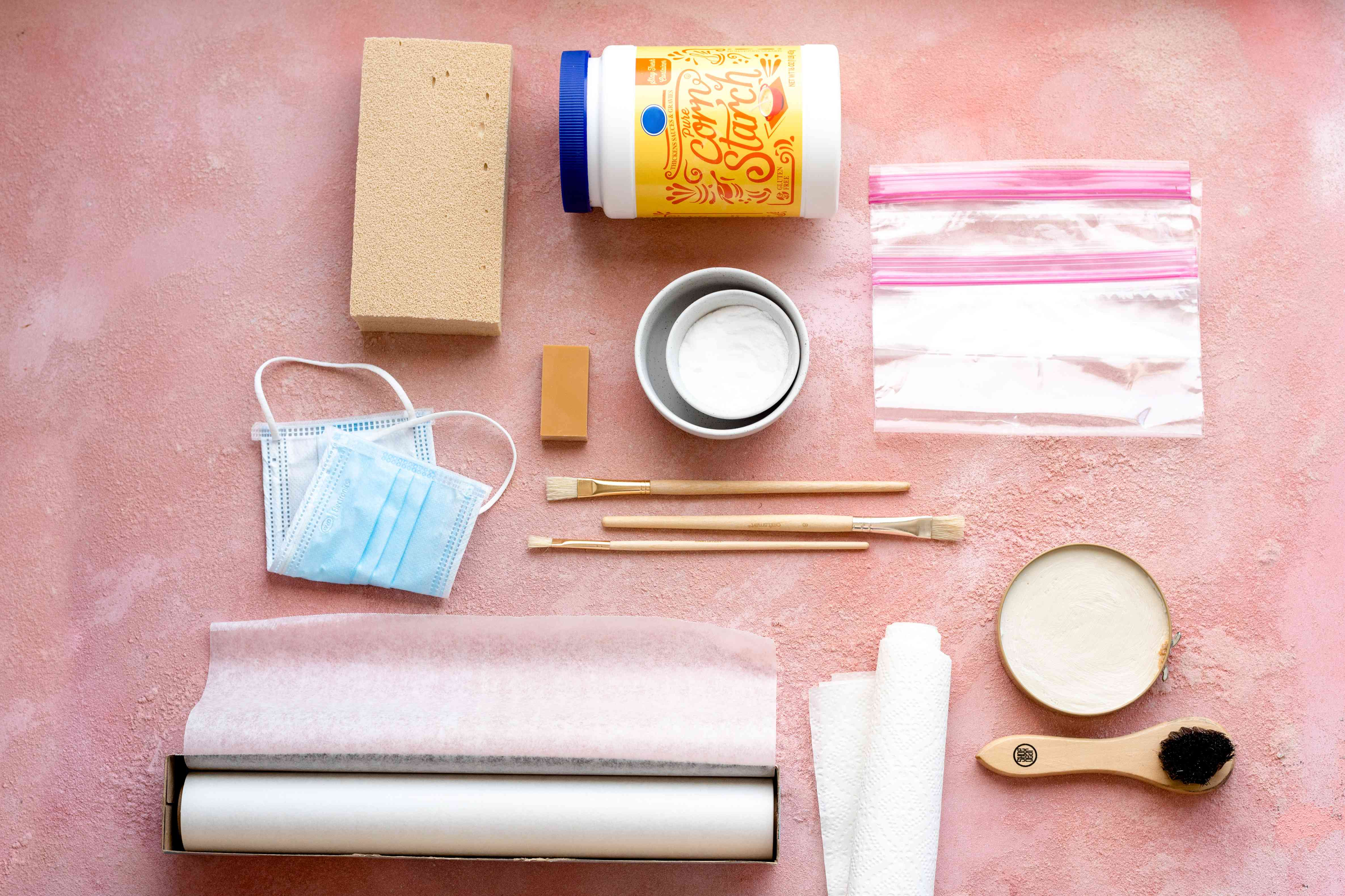 materials for cleaning books