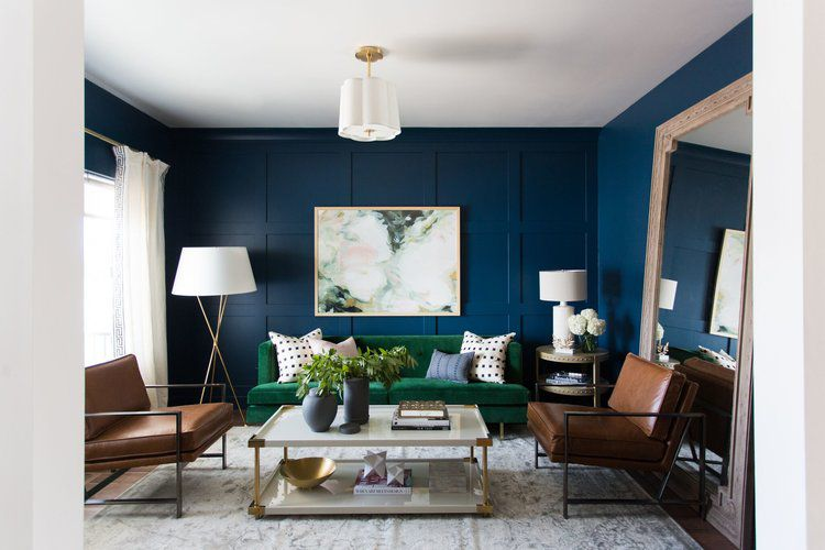 View Dark Blue Living Room Ideas