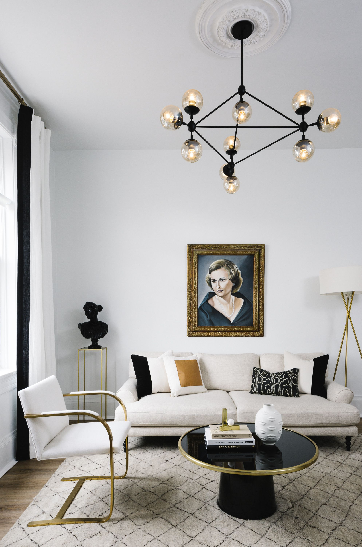 Room Design Black And White: Home Makeover: An Interior Designer's Glam Black & White