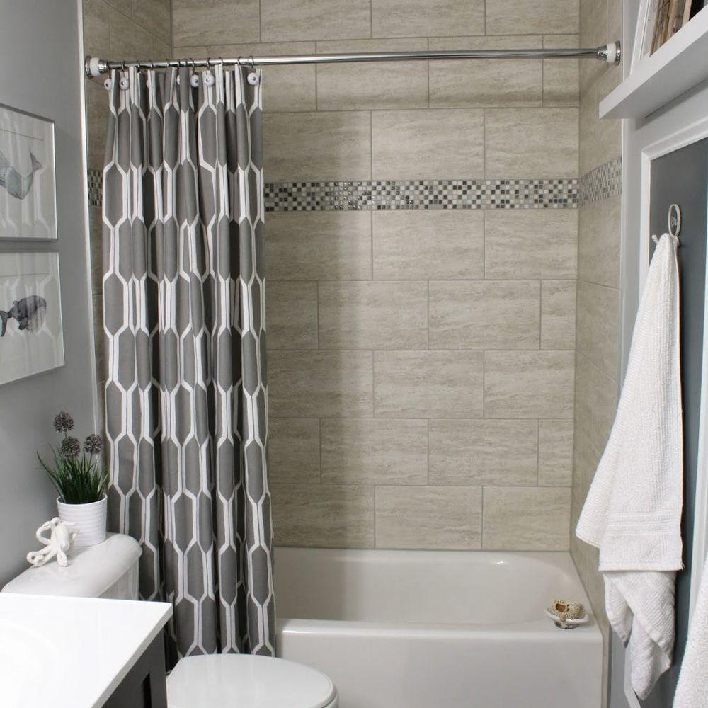brown and gray bathroom decor