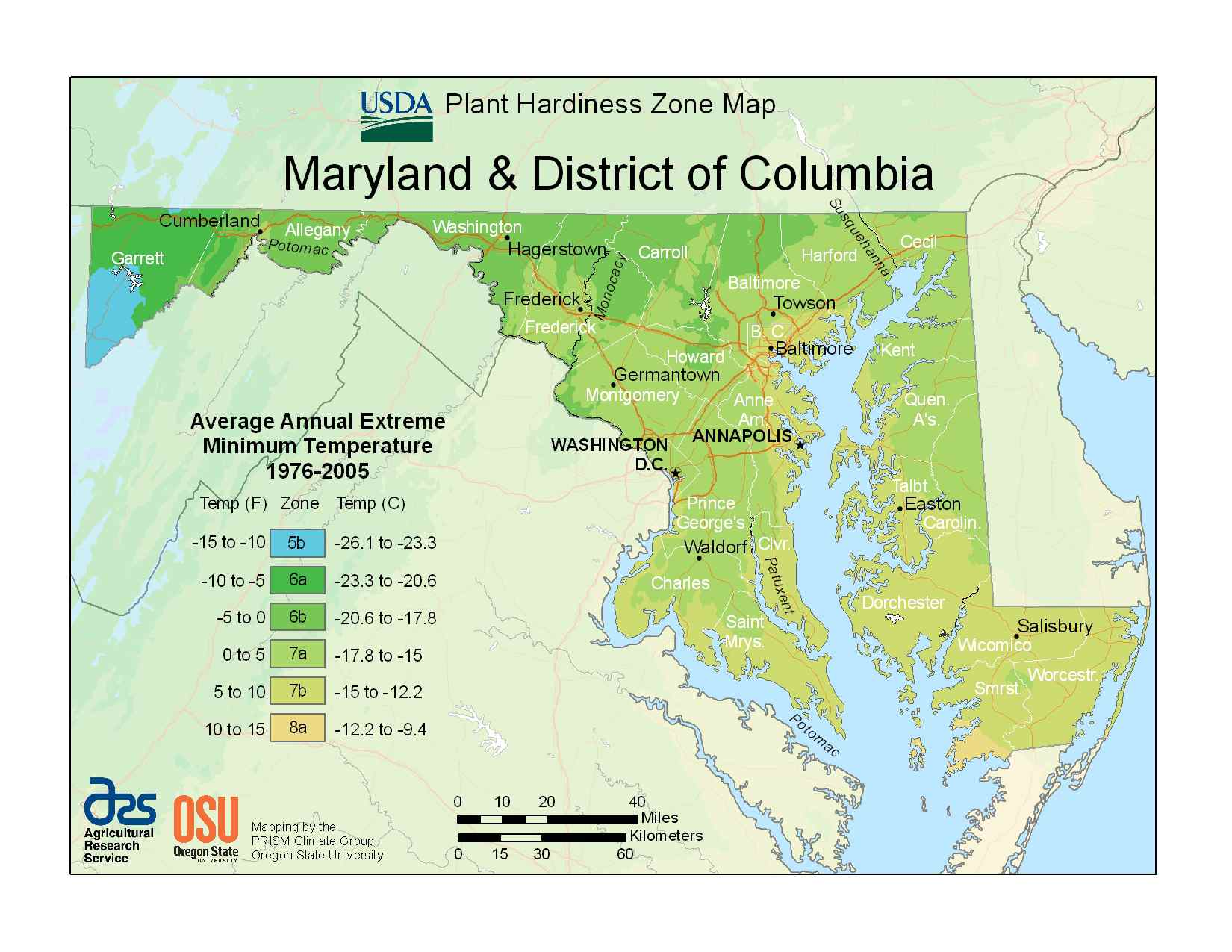 Photo Of The District Columbia Hardiness Zones