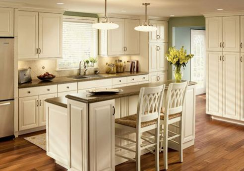 Double Tiered Kitchen Island With Eating E