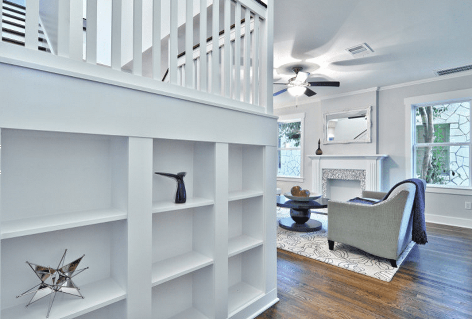 Built ins under stairs