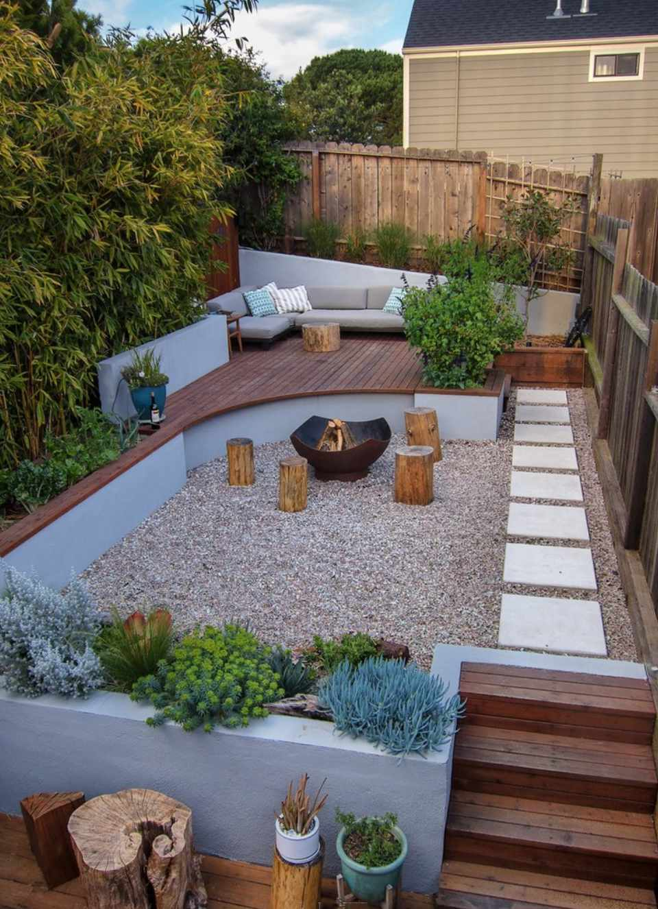 50 Backyard Landscaping Ideas to Inspire You on idea landscaping small garden design, deck idea garden design, idea water garden book, asian style patio design, idea living outdoor backyard design, japanese backyards waterfalls design, new zealand water design, indoor water fountain design, idea patio design with pergola, outdoor garden fountain design, exterior landscape design, outdoor landscape garden design, outdoor wall water fountains design, idea small garden bench, natural landscape design,