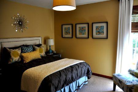 Contemporary Golden Yellow Bedroom