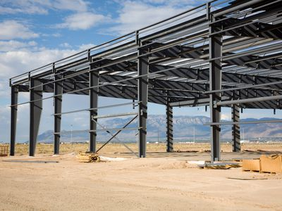 The structural elements of a new building