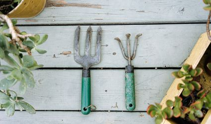 dirty gardening tools