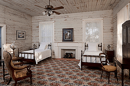Bastrop County 1850s Plantation House Southwest Bedroom