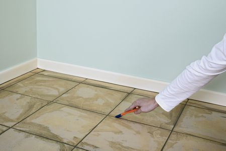 Change Grout Color By Replacing