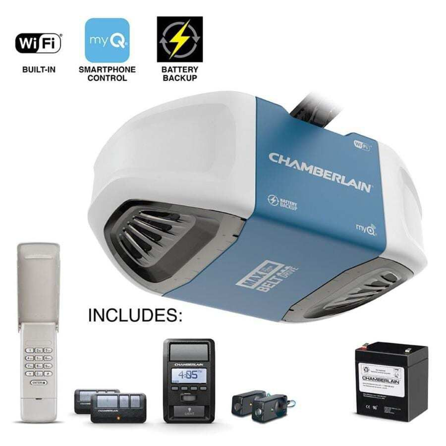 Chamberlain 1.25-HP myQ Smart Belt Drive Garage Door Opener