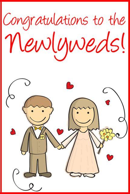 10 free printable wedding cards that say congrats