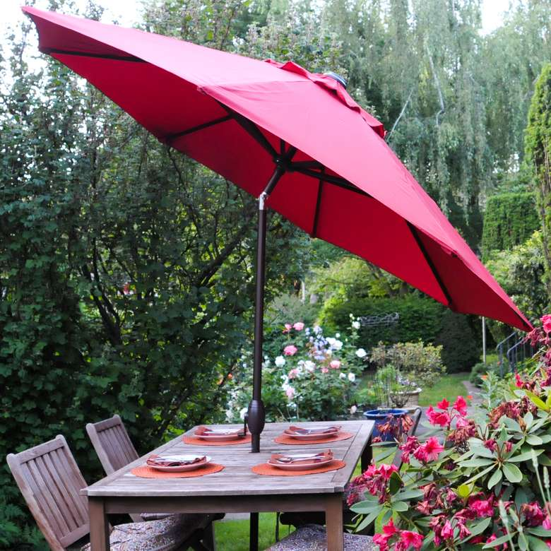 bba Patio 9-Foot Umbrella With Crank and Push Button Tilt