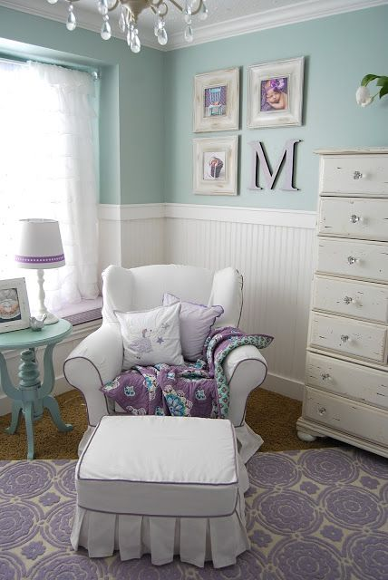 Aqua Purple Nursery