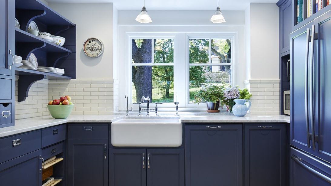 Navy Blue Kitchen Cabinets Beautiful Blue Kitchen CabiIdeas