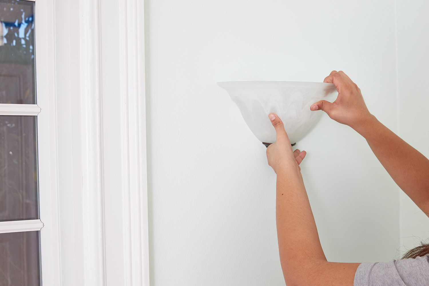 Remove light fixtures before painting